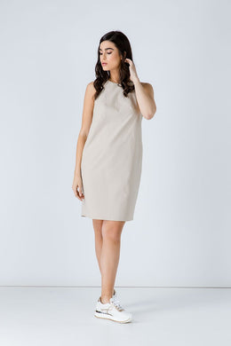 Sand Cotton Sack Dress