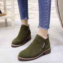 Load image into Gallery viewer, Fashion Ankle Boots For Woman Low Heels  New