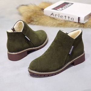 Fashion Ankle Boots For Woman Low Heels  New