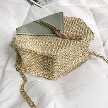 Load image into Gallery viewer, Fashion Hexagon Mulit Style Straw+pu Bag Handbags