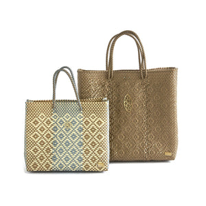 MEDIUM GOLD TOTE BAG