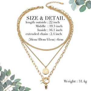 Multi-layered Elizabeth Coin Necklace