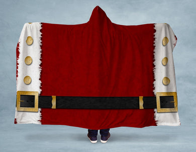 Santa Claus Coat Hooded Blanket