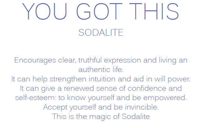 YOU GOT THIS - Sodalite Tumbled Crystal Bracelet