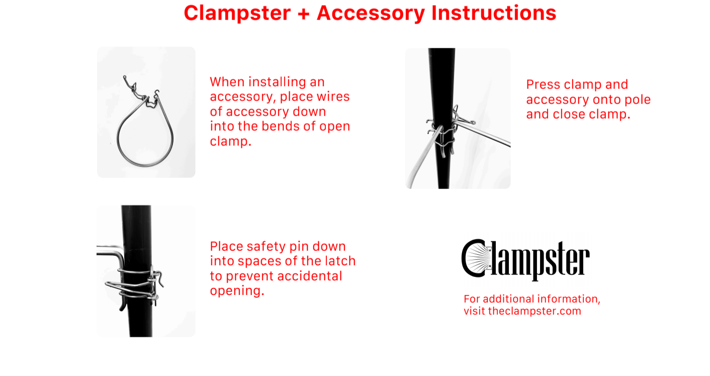 Clampster Accessory Assembly
