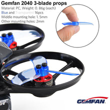 Load image into Gallery viewer, Gemfan 2040 3-Blade Propellers 2.0 Inch Triblade Props 2ccw 2cw