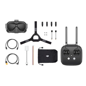 DJI Digital FPV System Air Unit 5.8GHz 8CH Transmitter HD 1080P Camera 1440X810 Goggle Combo With Remote Controller Mode 2 Super Low Latency for RC Racing Drone - 1*air unit 1* goggle 1* remote controller