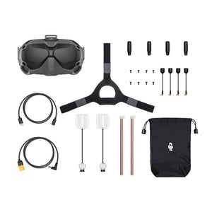 DJI Digital FPV System Air Unit 5.8GHz 8CH Transmitter HD 1080P Camera 1440X810 Goggle Combo  Super Low Latency for RC Racing Drone - 2*air unit 1* goggle