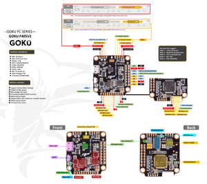 GOKU FC F405 V2 Flight Controller Built In OSD 5V 9V 2A BEC ICM20689 MPU6000 For RC Drone
