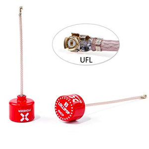 FOXEER Lollipop 1pcs FPV U.FL Antenna 5.8G 2.5dBi Super Mini RHCP Antenna UFL for RC Drone FPV Quadcopeter Multicopter TX/RX (85mm)