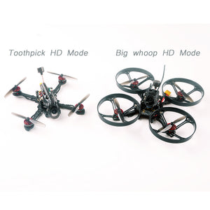 Happymodel Larva-X HD Micro FPV Drone Toothpick HD and Whoop HD 2in1 BNF Drone