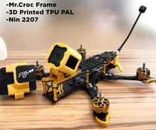 Load image into Gallery viewer, FLYWOO Mr.Croc-SL 225mm 5 Inch FPV FreeStyle Racing Frame Kit 5mm Arm