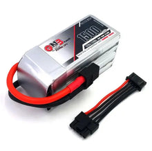 Load image into Gallery viewer, Gaoneng GNB 14.8V 1500mAh 120C/240C 22.2WH FPV Racing Lipo Battery w/ Balance Wire