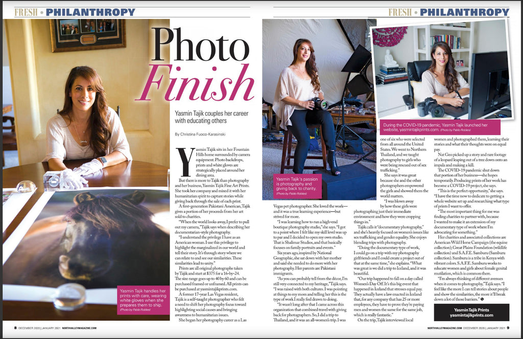Yasmin Tajik interview North Valley Magazine
