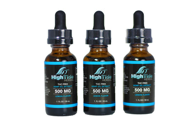 High Tide Herbal 500 MG THC Free Hemp Extract Oil 3 Pack