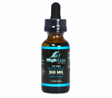 High Tide Herbal 500 MG THC Free Hemp Extract Oil