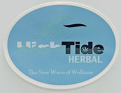 Sky Blue Logo Sticker - High Tide Herbal ™