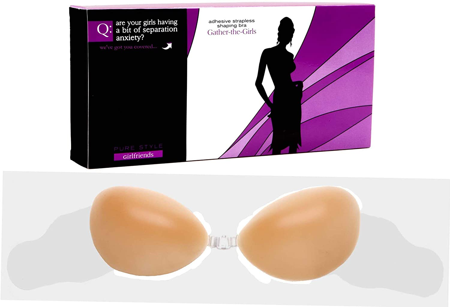 Pure Style Girlfriends Nu Gather-the-Girls Adhesive Silicone Shaping Bra