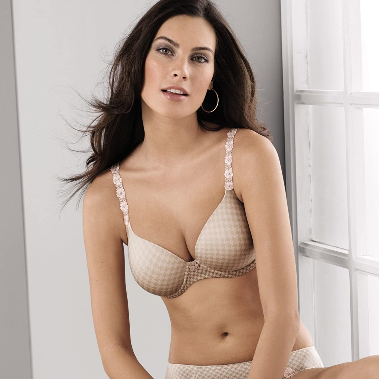 RosaFaia Josephine Womens Padded Contour Underwired Bra, 32F, Pearl Rose