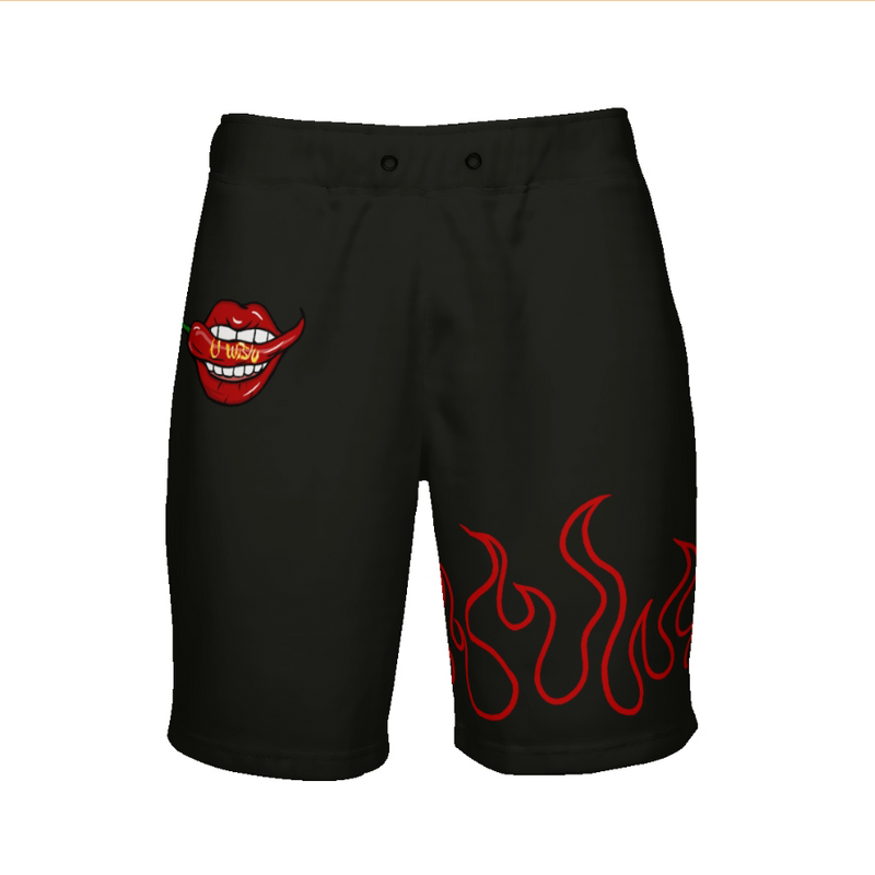 """U Wish"" Flaming Shorts by SpicyDoug (Unisex)"