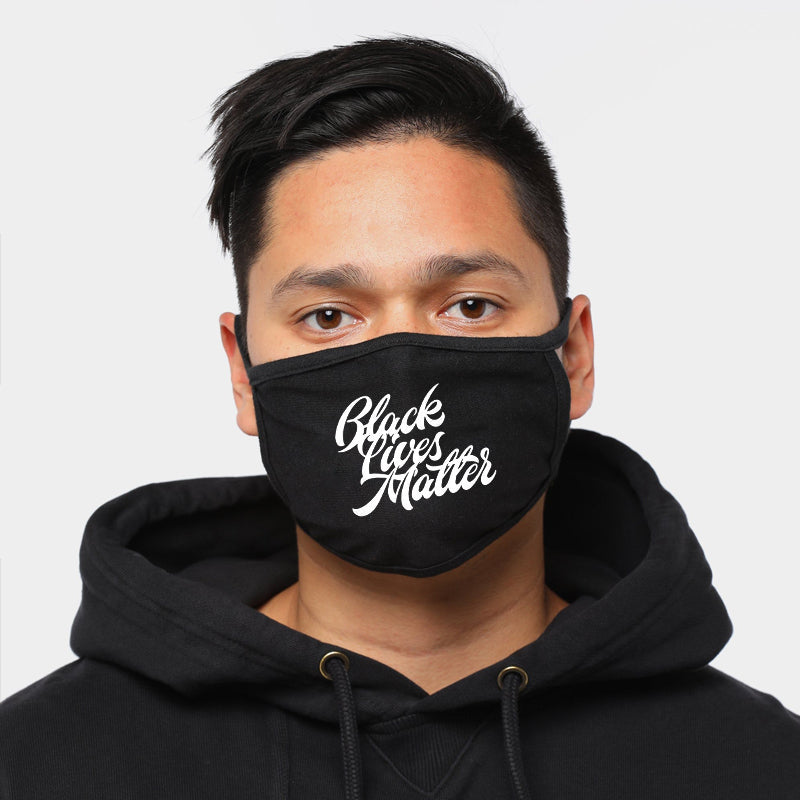 Black Lives Matter | CDC Rec 3 Layer Face Mask w/ Fitted Nose Wire, Anti Dust Filters, Reusable, Adjustable Straps (Handmade)