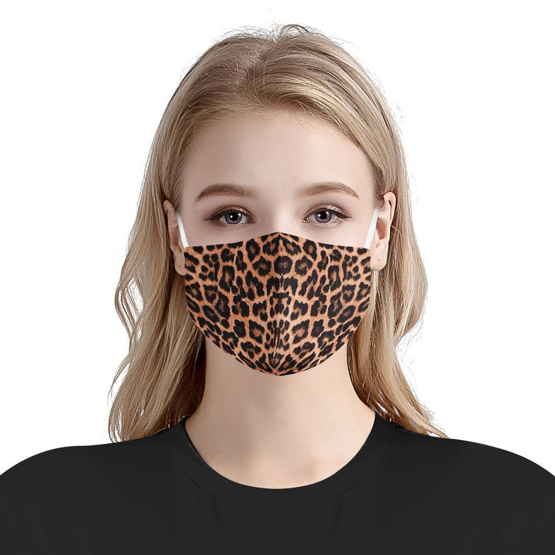Cheetah Print Animal Face Mask | Soft & Silky Triple Layer Anti Dust Face Mask w/ Nose Wire, Free Filters, Reusable, Handmade