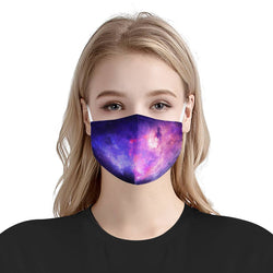 Galaxy Stars Fantasy Sky Pattern Trippy | Soft & Silky Triple Layer Anti Dust Face Mask w/ Nose Wire, Free Filters, Reusable, Handmade