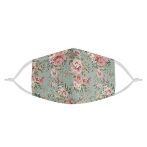 Vintage Floral Love | CDC Rec 3 Layer Face Mask w/ Fitted Nose Wire, Anti Dust Filters, Reusable, Adjustable Straps (Handmade)