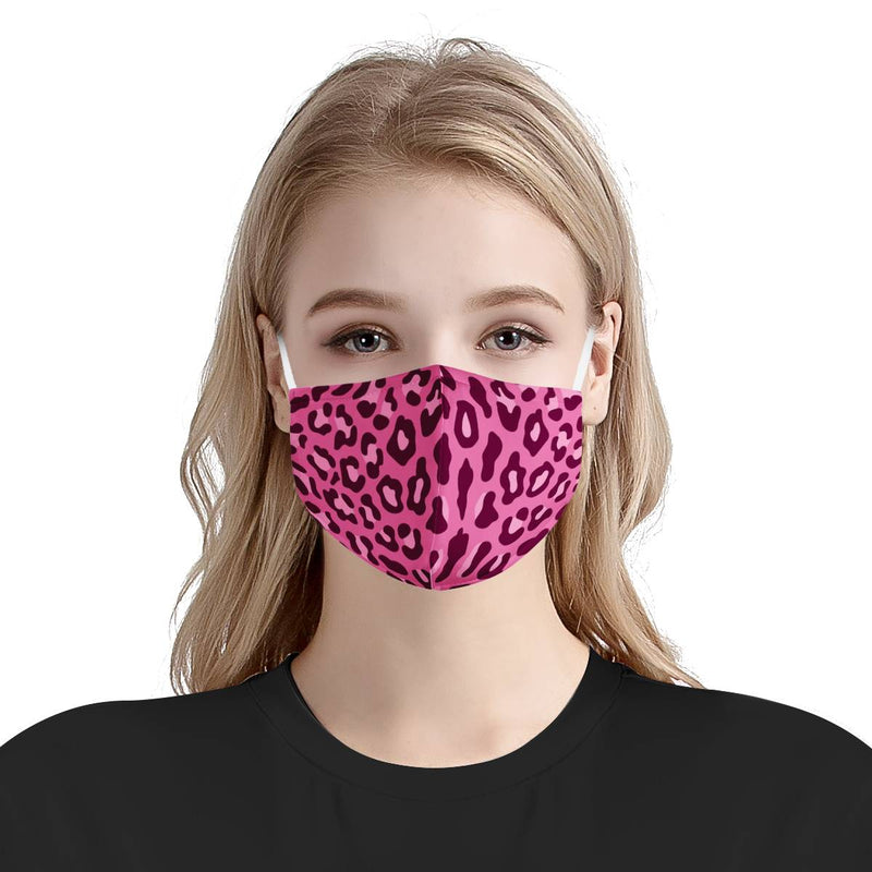 Pink Cheetah Print Animal Face Mask | Soft & Silky Triple Layer Anti Dust Face Mask w/ Nose Wire, Free Filters, Reusable, Handmade