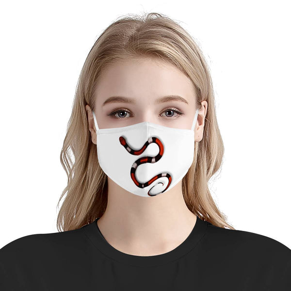 Snake Charm | CDC Rec 3 Layer Face Mask w/ Fitted Nose Wire, Anti Dust Filters, Reusable, Adjustable Straps (Handmade)