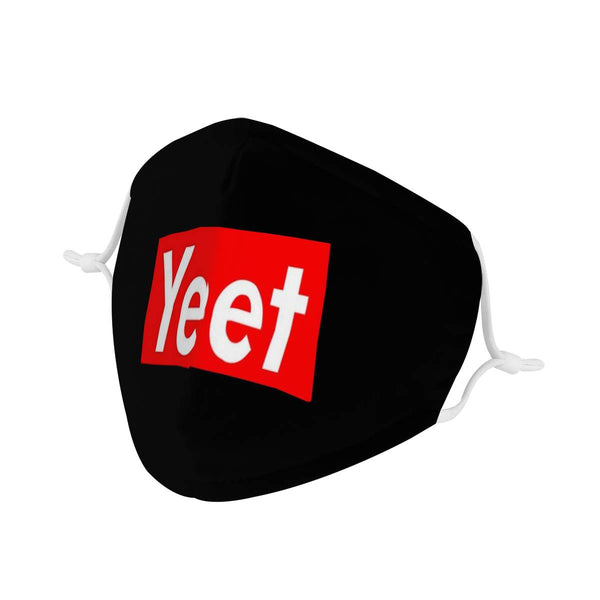 Yeet Streetwear Mask | Soft & Silky Triple Layer Anti Dust Face Mask w/ Nose Wire, Free Filters, Reusable, Handmade