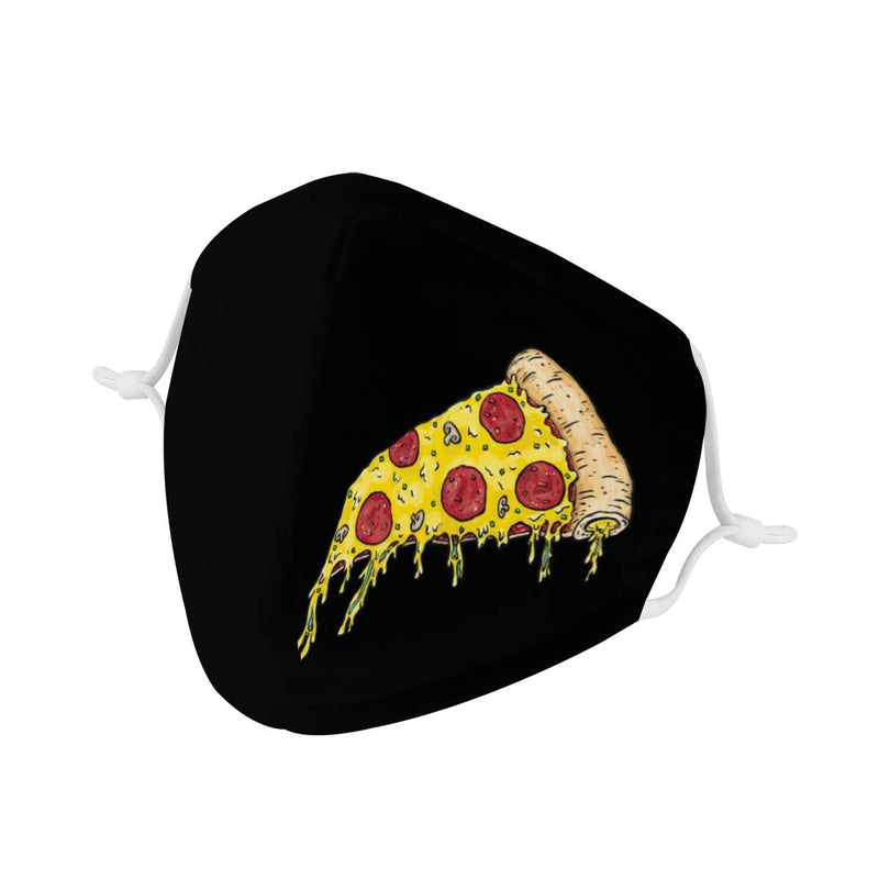 I Love Pizza Face Mask | Soft & Silky Triple Layer Anti Dust Face Mask w/ Nose Wire, Free Filters, Reusable, Handmade