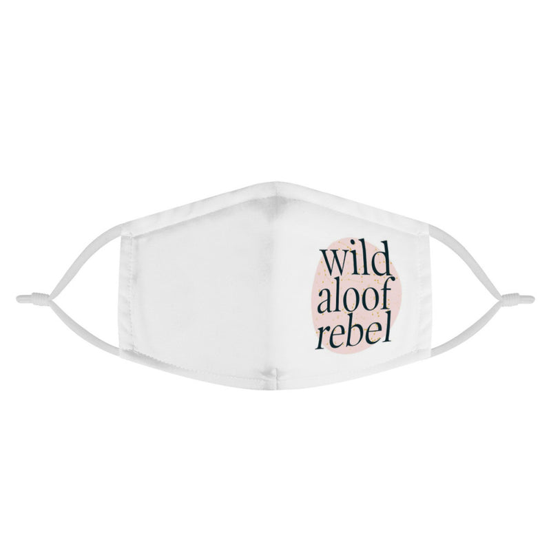Wild Aloof Rebel Mask (MASK) | David Rose Schitt's Creek Funny Face Mask | Handmade Soft & Silky Multi Layer Anti Dust Protection Face Mask w/ Filters