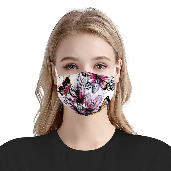 Butterfly Love | 100% Soft Pima Cotton Triple Layer Face Mask