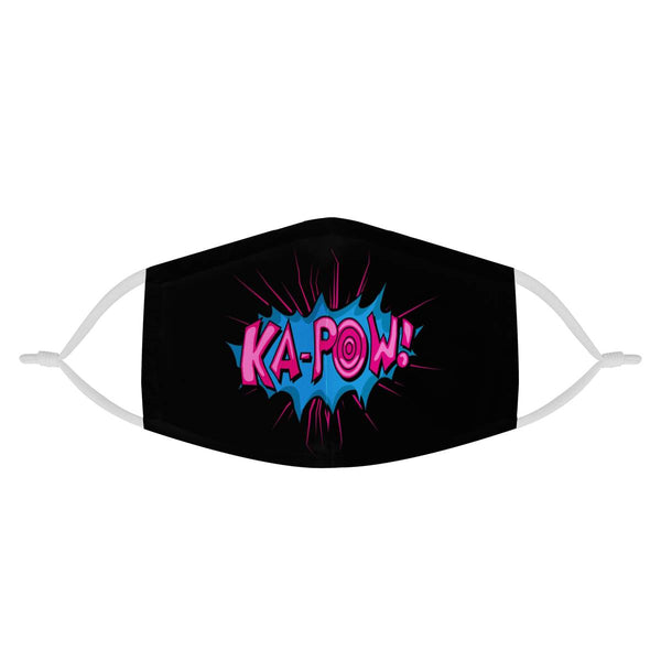 KAPOW! Comic Strip Graphic | CDC Rec 3 Layer Face Mask w/ Fitted Nose Wire, Anti Dust Filters, Reusable, Adjustable Straps (Handmade)