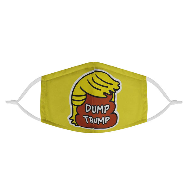 Dump TRUMP | CDC Rec 3 Layer Face Mask w/ Fitted Nose Wire, Anti Dust Filters, Reusable, Adjustable Straps (Handmade)