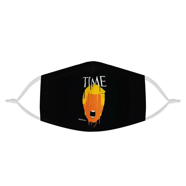 TIME MAGAZINE TRUMP 2020 | CDC Rec 3 Layer Face Mask w/ Fitted Nose Wire, Anti Dust Filters, Reusable, Adjustable Straps (Handmade)