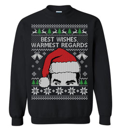 BEST WISHES (Thick Sweater) Cute Ugly Christmas Sweater