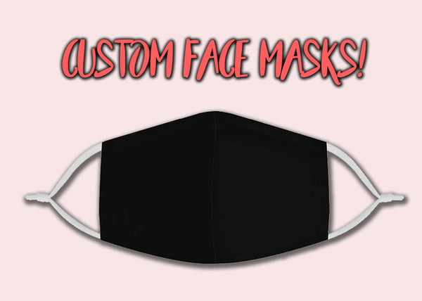CUSTOM Face Mask | CDC Rec 3 Layer Face Mask w/ Fitted Nose Wire, Anti Dust Filters, Reusable, Adjustable Straps (Handmade)