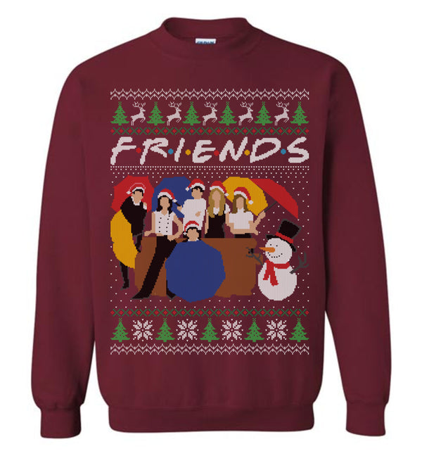 FRIENDS (Thick Sweater) Cute Ugly Christmas Sweater