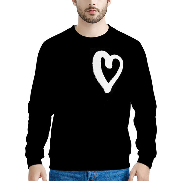 Artsy Heart (LONG SLEEVE TEE) David Rose Schitt's Creek Funny Sweatshirt | Schitt's Creek Sweater | Lightning Bolt Sweatshirt