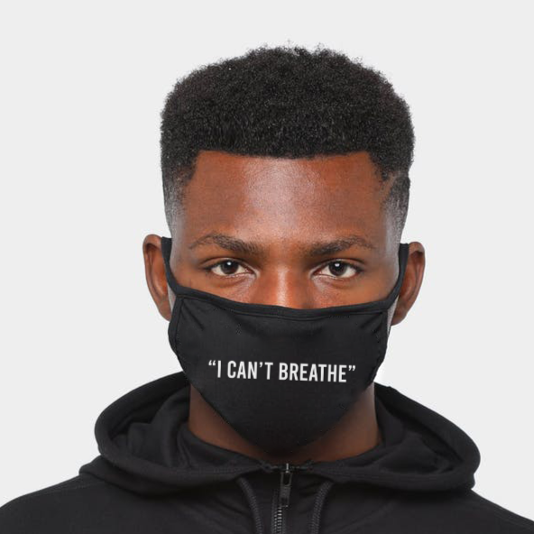 I Can't Breathe | CDC Rec 3 Layer Face Mask w/ Fitted Nose Wire, Anti Dust Filters, Reusable, Adjustable Straps (Handmade)