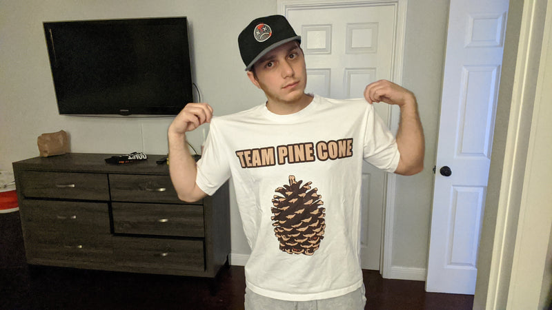 Lasercorn's Team Pinecone T-shirt (White)