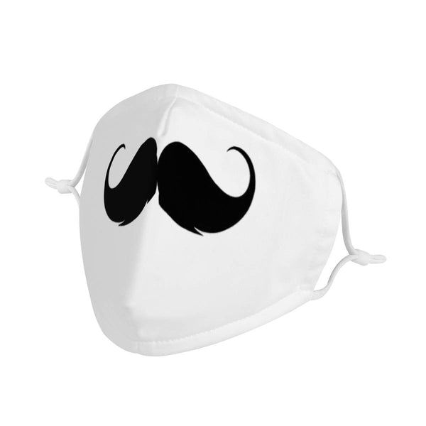 Cute Mustache | CDC Rec Youth Kids Triple Layer Face Mask w/ Anti Dust Filters, Reusable, Cute, Stylish (Handmade)