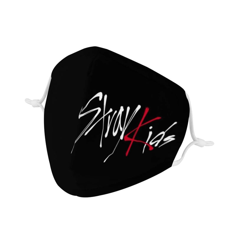 Stray Kids Logo Mask / Triple Layer Face Mask w/ Fitted Nose Wire, w/ Anti Dust Protection Filters, Reusable, Adjustable Straps (Handmade)
