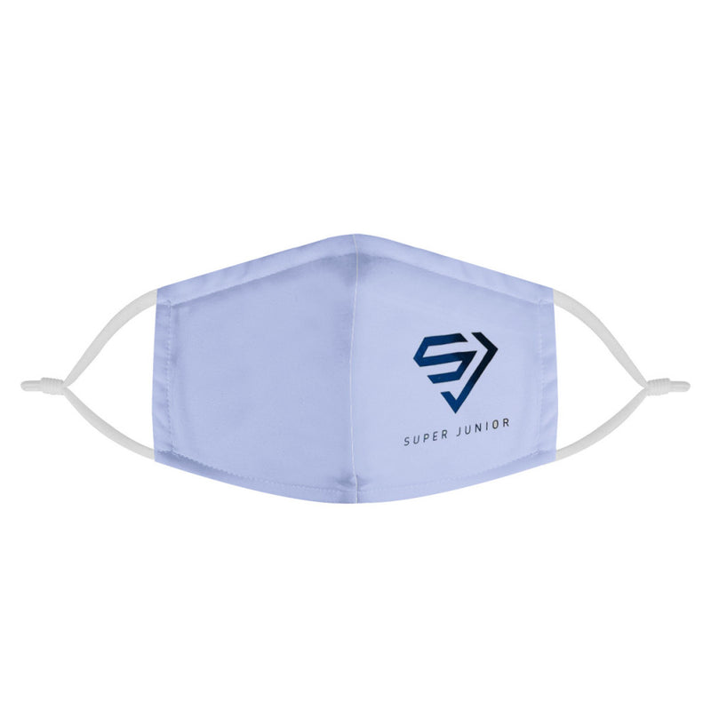 Super Junior Kpop Logo Mask / Triple Layer Face Mask w/ Fitted Nose Wire, w/ Anti Dust Filters, Reusable, Adjustable Straps (Handmade)