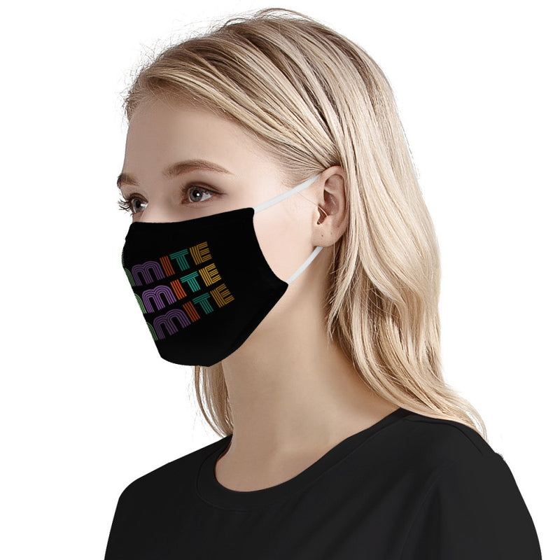 BTS Dynamite Rainbow Kpop Mask Fanmade / CDC Rec Fashion Face Mask w/ Anti Dust Protection Filters / Fabric, Handmade, 3 Layer