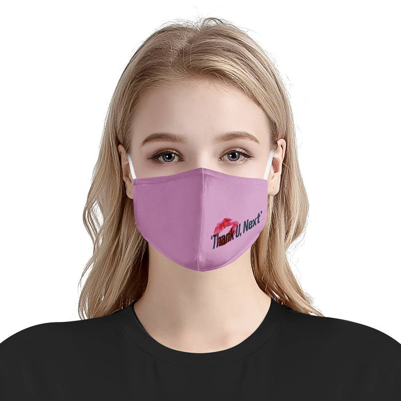 Unisex Thank U, Next / CDC Rec Fashion Face Mask w/ Anti Dust Protection Filters / Fabric, Handmade, 3 Layer (Handmade)