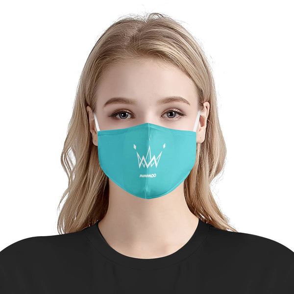 Mamamoo Logo Mask / Triple Layer Face Mask w/ Fitted Nose Wire, w/ Anti Dust Protection Filters, Reusable, Adjustable Straps (Handmade)