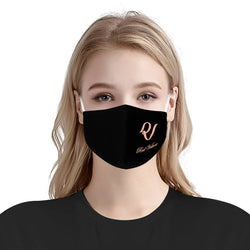 Red Velvet Logo Mask / Triple Layer Face Mask w/ Fitted Nose Wire, w/ Anti Dust Protection Filters, Reusable, Adjustable Straps (Handmade)